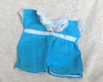 Turquoise Doll Romper 1950's