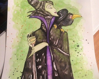 8.5x11 Maleficent, from Sleeping Beauty, Professional Fine Art Quality Print