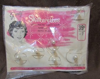 Hair Accessories, Skatterettes, Twist-in Hair Beads, Goody, 1960's