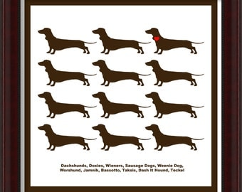 Dachshund Art Print What's yours Called?