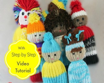 Loom Knitting PATTERNS Comfort Dolls aka Izzy Duzuza Softies Doll with Step by Step Video Tutorial Easy for Toy Beginners