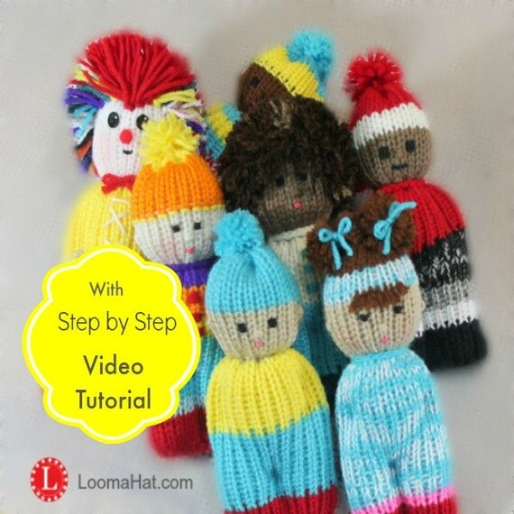 Easy Knitting Patterns For Dolls : Loom Knitting PATTERNS Comfort Dolls aka Izzy Duzuza Softies
