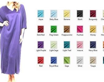 Womens Silk Nightwear / Sleepwear / Lounge wear/ Kaftan  - Multiple Colors and Sizes