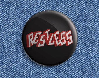 Restless Psychobilly/Rockabilly button