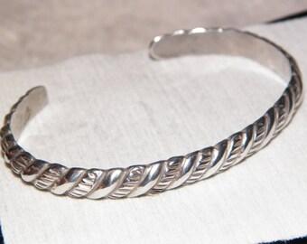 old vintage silver bracelet