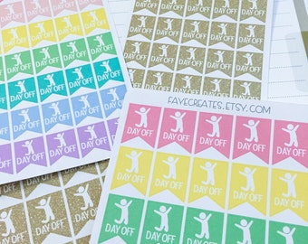 Day off flag stickers for Day Designer and other planners