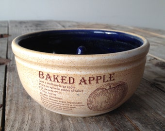 APPLE BAKER // Onion Baker - Cobalt Blue - baked apple - onion soup - baking - ceramic - pottery - indigo RECIPES included