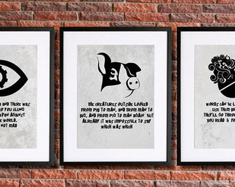 George Orwell Poster Art Instant Download by pennyPRINTABLE