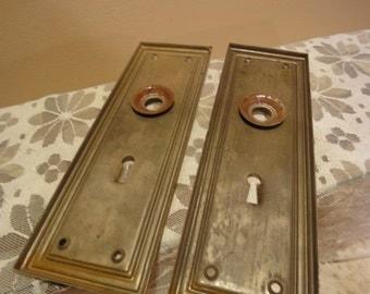 Brass door plate Etsy