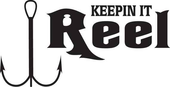 keeping it reel fishing vinyl sticker by identitygraphics