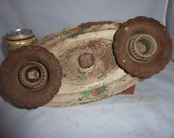 "Vintage Ceiling Light Fixture Polychrome 1930""s"