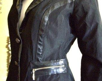 NEW! Rinascimento Italy Cose Cosi Giacca Jacket-Black Size: S/M Retail 390