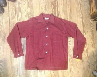 Vintage 1950s Jayson Wiggle Weave Tripical Sport Shirt sz 42 in near mint vintage condition