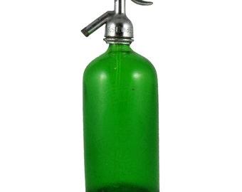 Vintage Seltzer Bottle - Green