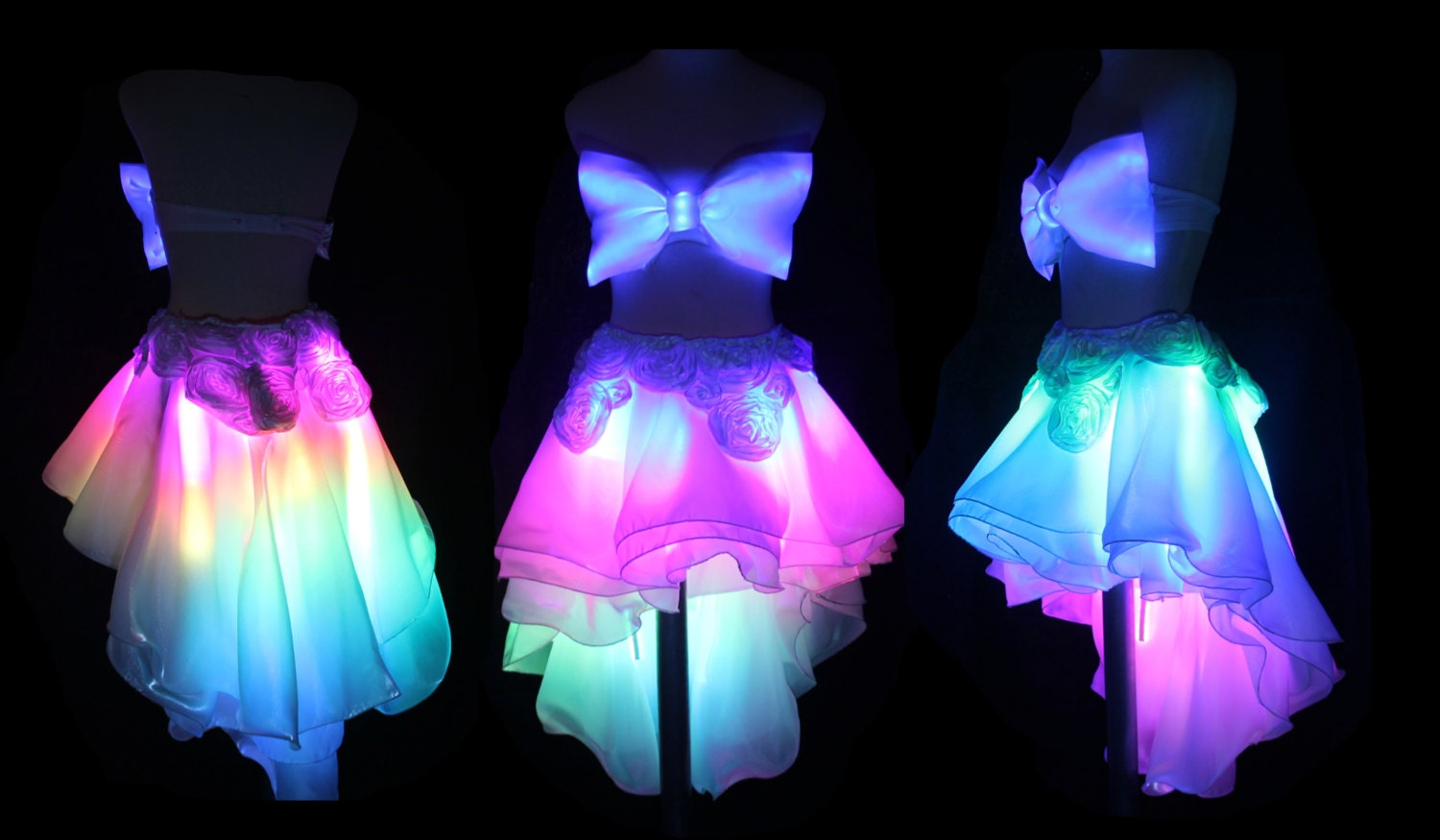 led skirt lightup clothing led couture by illuminatedcouture. Black Bedroom Furniture Sets. Home Design Ideas
