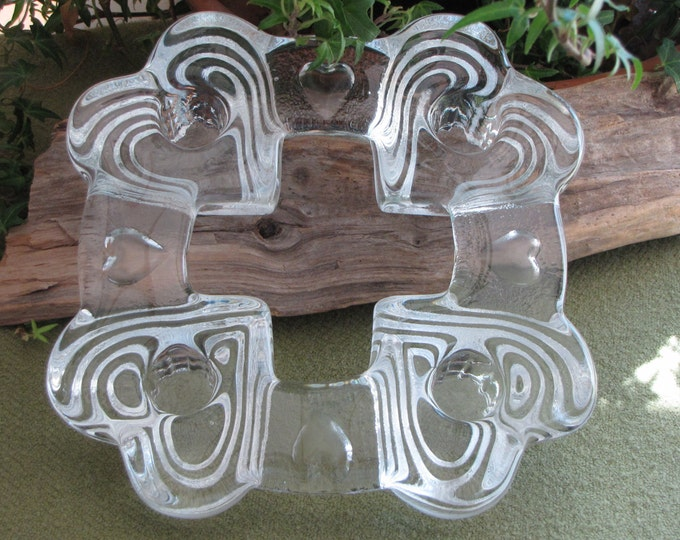 Hearts Candle Holder Four Square Crystal Candlestick Holders Vintage Lighting