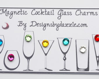 Magnetic Swarovski Wine Charms