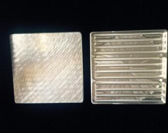 Set of 4 CNC Machined aluminum coasters