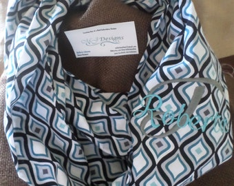 Infinity Scarf-Blue and grey drop