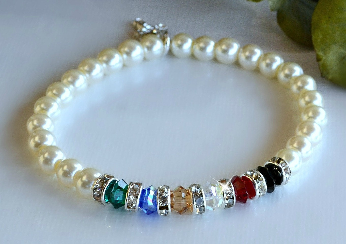 swarovski and pearl salvation bracelet