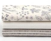 Nature - Quarter Fabric Pack 3 Linen Fabric 1 set - Sets for 3 each 45 X 55 cm