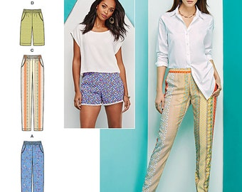 Simplicity Sewing Pattern 1165 Misses' Pull-on Pants, Long or Short Shorts