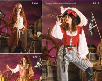 Simplicity Sewing Pattern 3677 Misses' Pirate Costumes