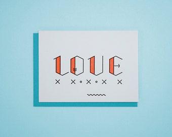 Love / Letterpress Card