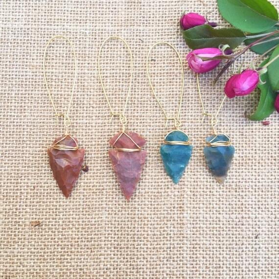 Join the Tribe   Aditsan Arrowhead Earrings