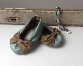 Baby Shoes Ballet Flats Handmade Leather