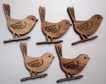 Laser cut wooden BIRDS