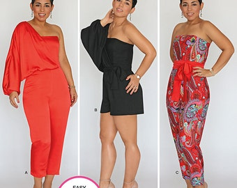 Simplicity Pattern 1115 Misses' Long or Short Jumpsuit from Mimi G