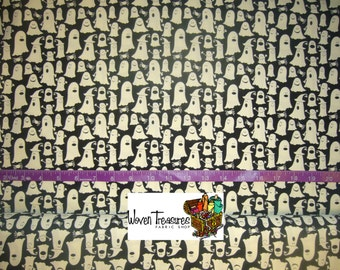 Glow in the Dark Ghosts - Timeless Treasures - Cotton fabric - Choose your cut