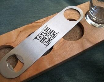 Engraved Bottle Opener - Stainless Steel Opener - Beer Bottle Opener -  Personalized Groomsmen Gift -  Speed Opener - Paddle Bottle Opener