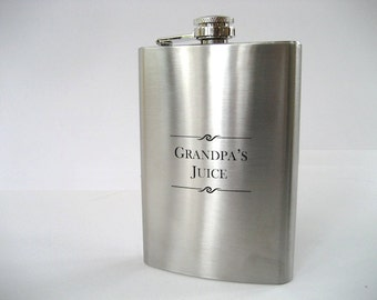 Flask - Engraved Flask - Personalized Gift for Fathers Day - Gift for Him - Monogrammed Flask - Personalized Flask