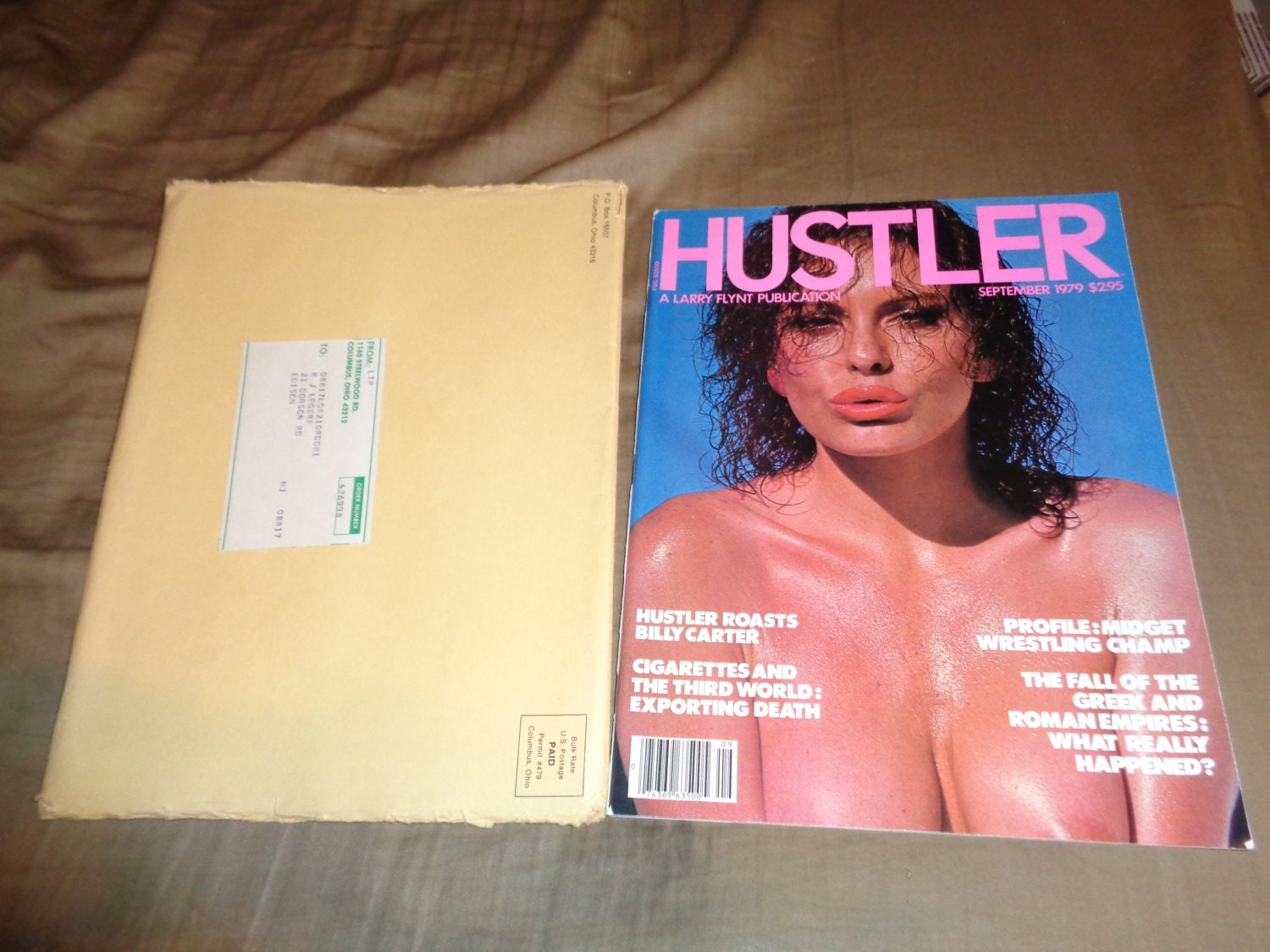 Gets hustler centerfold photo outfit and