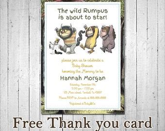 invitation wild rumpus kids birthday invite where the wild things