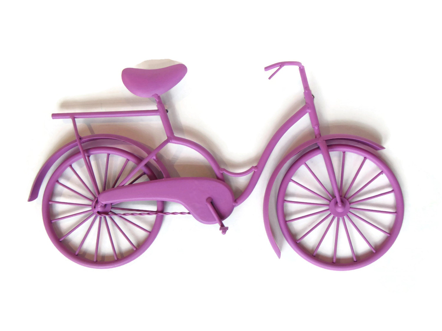 Metal Wall Decor Bicycle : Metal bicycle wall art beach cruiser hanging by