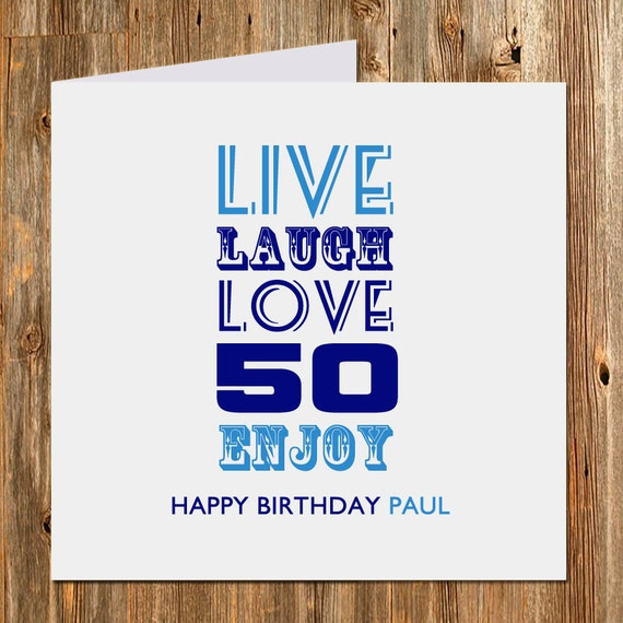 50 Farmhouse Style Gift Ideas From Etsy: Items Similar To 50th Birthday Gift Card