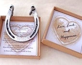 Blacksmith made Good Luck Wedding Horseshoe: Traditionally Forged and packaged within a presentation box