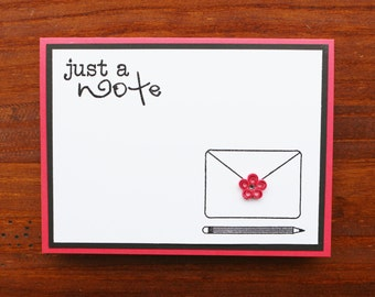 Quilled Just A Note Greeting Card