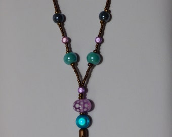 Magic blue and purple necklace - Made in FRANCE