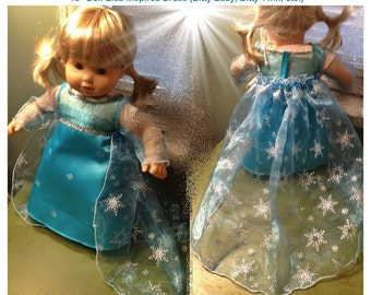 """SALE!! 18"""" Doll 15"""" Inspired by American Girl Doll Clothes Inspired by Elsa Disney Frozen"""