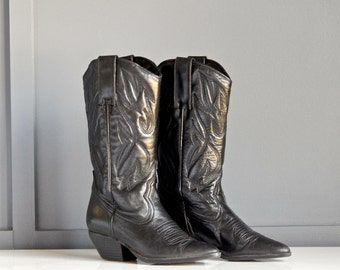 Womens/Cowboy Boots/Size 6/Vintage/Black/by Main Woods