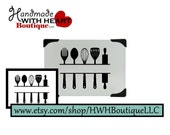 Split Kitchen Utensils for Monogramming  - Cut Files for cutting machines | SVG, PDF, and Silhouette Studio (DFX) - for Vinyl or Paper