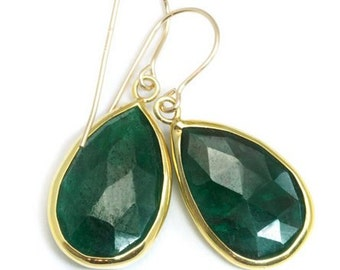 Earring 925 Sterling Silver Earring with Stone light weight earring Gold vermiel over solid Silver