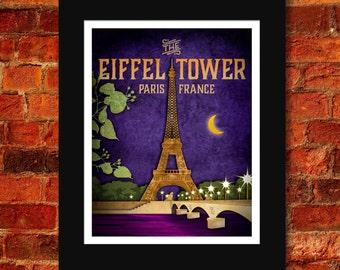 The Eiffel Tower Art Print - 11x14