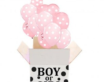 Gender Reveal Party Balloons in a Box | Gender Reveal Party | Gender Announcement | Baby Shower