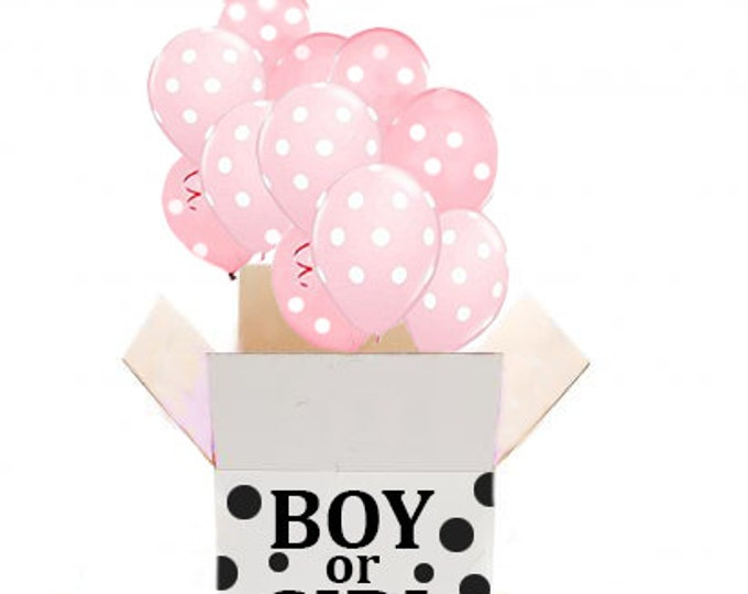 Gender Reveal Balloon release, Gender Reveal Ideas, Gender Reveal Party, Gender Announcement, TIWNS Announcement Baby Shower