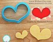 Happy Heart Cookie Cutter and Fondant Cutter by Artist Montserrat Nievas